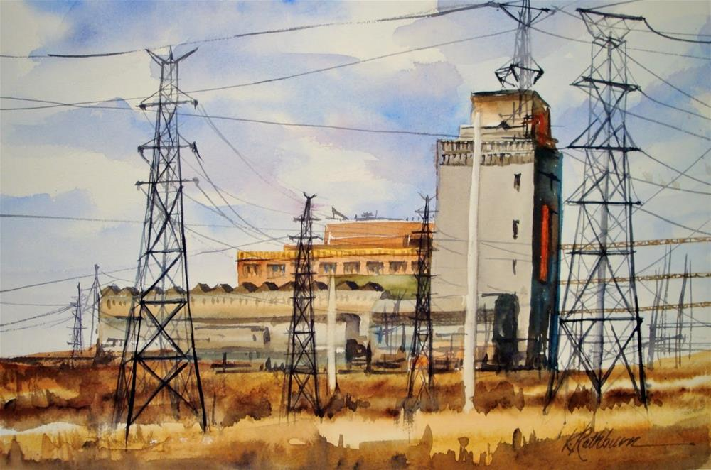 """State Line Energy is Coming Down"" original fine art by Kathy Los-Rathburn"