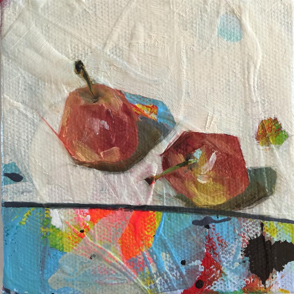 """334 Fun-Sized Apples"" original fine art by Jenny Doh"