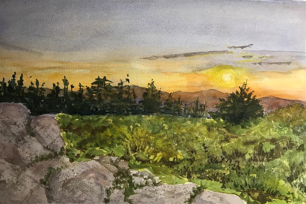 """The beautiful Adirondacks"" original fine art by Betty Argiros"