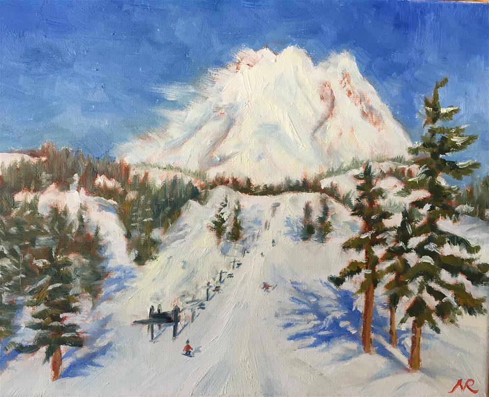 """Windy day on the mountain"" original fine art by Natasha Ramras"