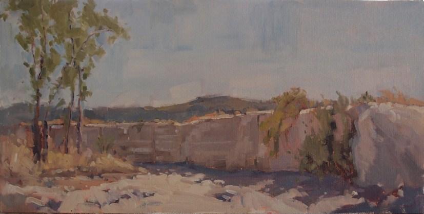 """""""Desert Creek Bed, Big Bend"""" original fine art by Julie Davis"""
