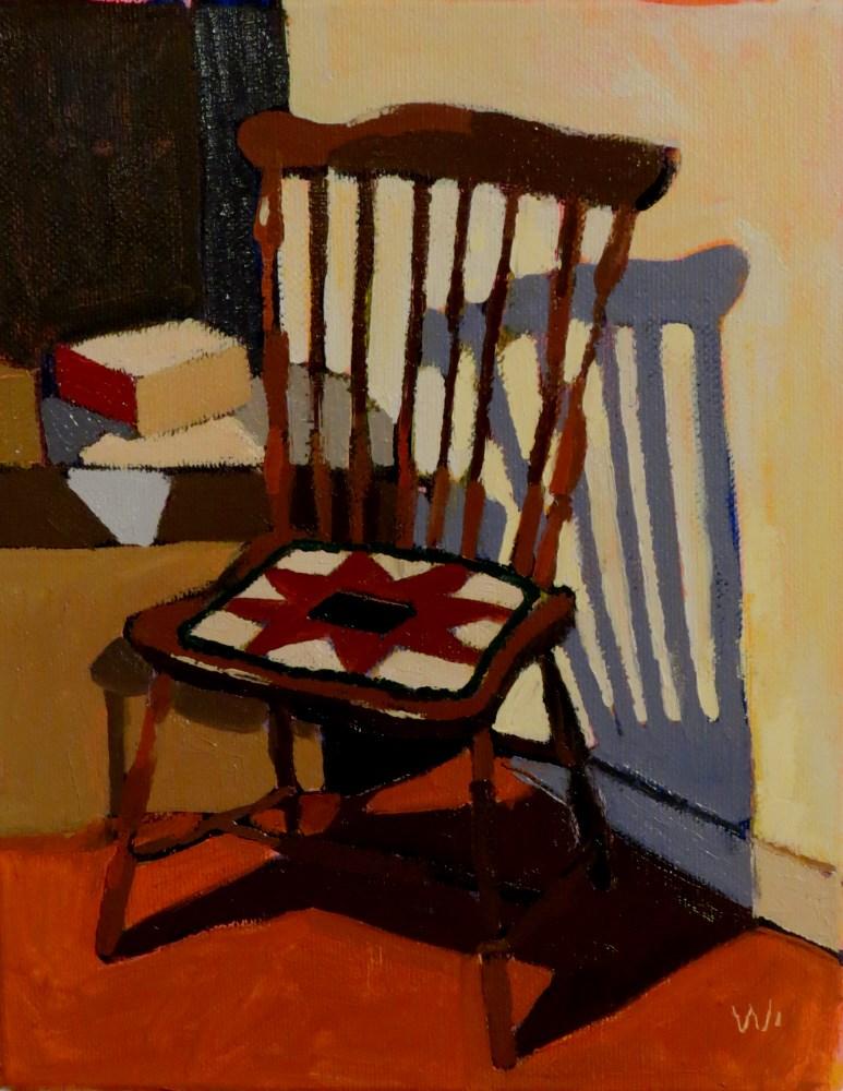 """Windsor Chair"" original fine art by Joan Wiberg"