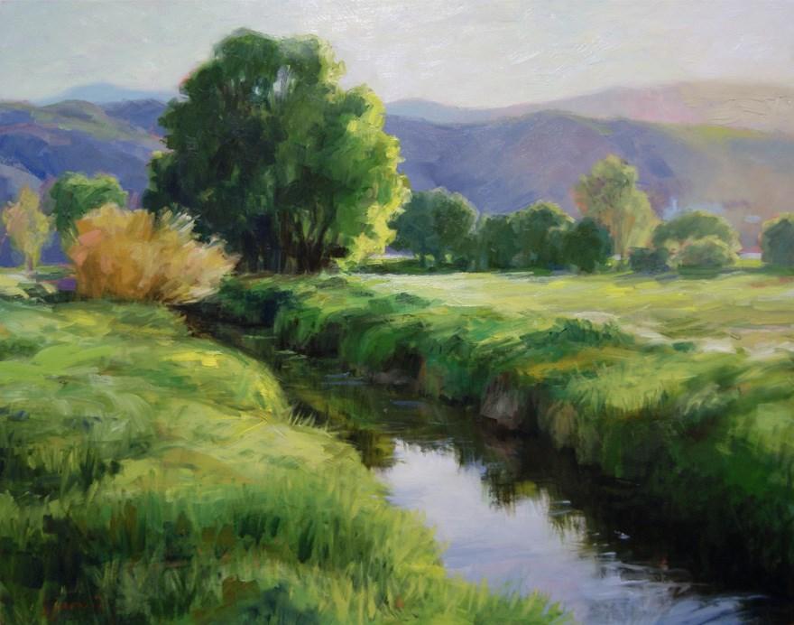 """""""Early Morning in Morgan, Utah"""" original fine art by Susan N Jarvis"""