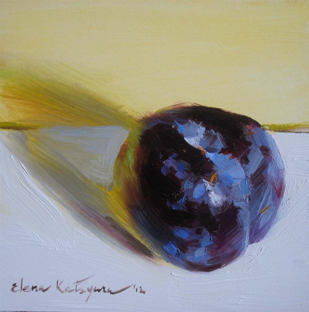 """The Plum"" original fine art by Elena Katsyura"