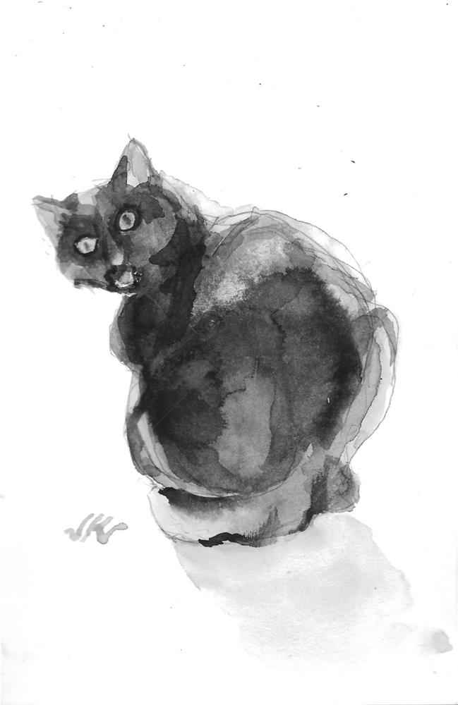"""Daily Cat 117"" original fine art by Jean Krueger"