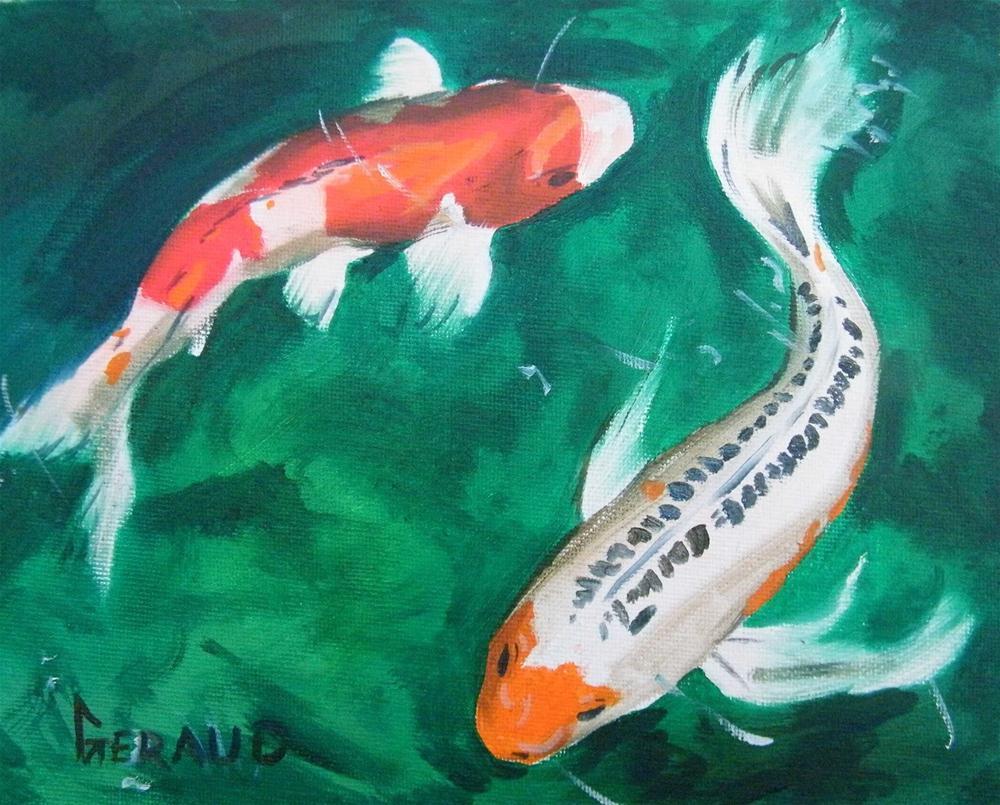 """The Chase"" original fine art by Geraud Staton"