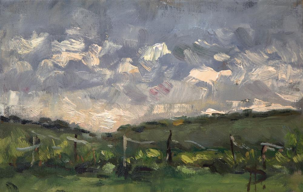 """""""Field at North Stoke"""" original fine art by Andre Pallat"""