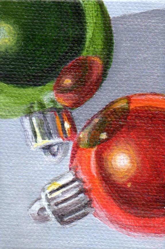 """Ornament 201205"" original fine art by Debbie Shirley"