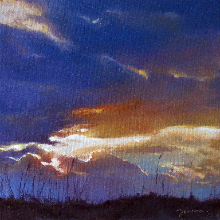 """Sunset Over The Dune"" original fine art by Joanna Bingham"