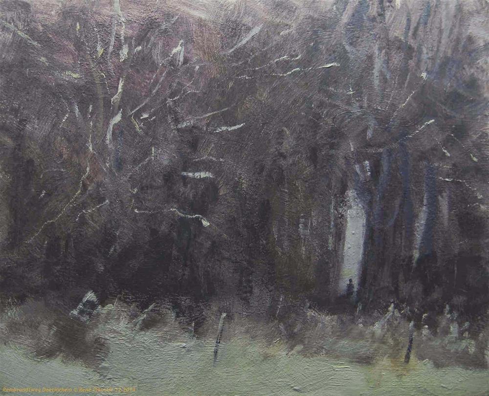 """Snow III Doetinchem, the Netherlands"" original fine art by René PleinAir"