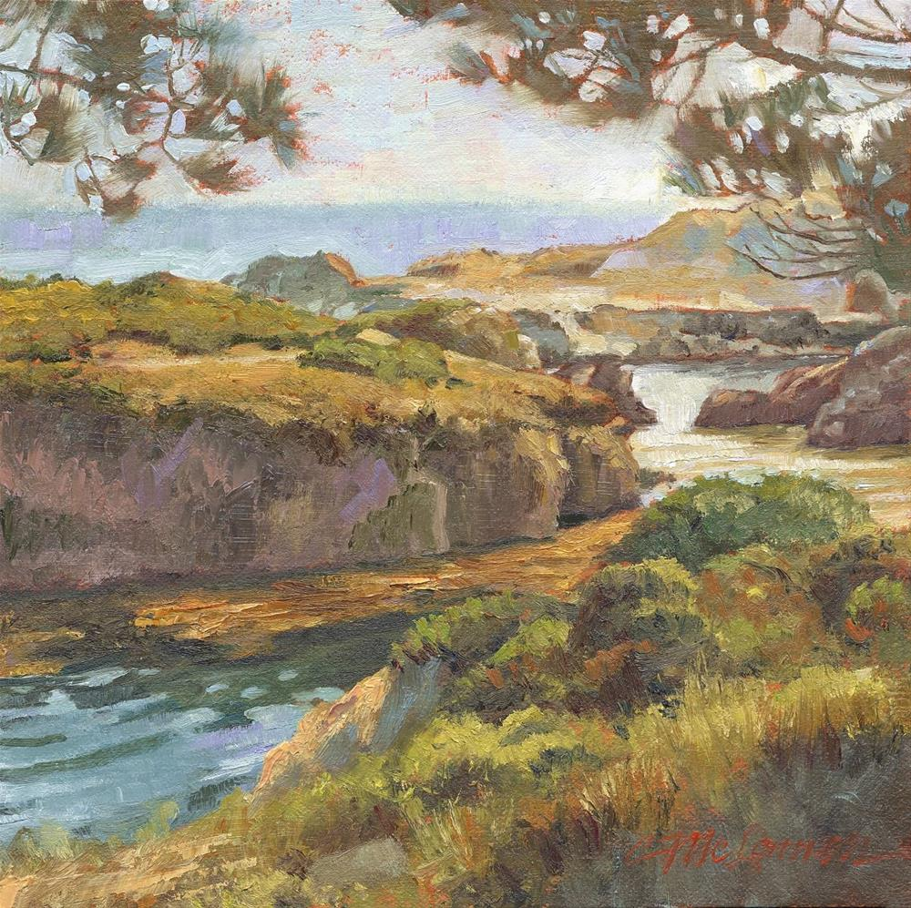 """Late Afternoon, Pt. Lobos"" original fine art by Connie McLennan"