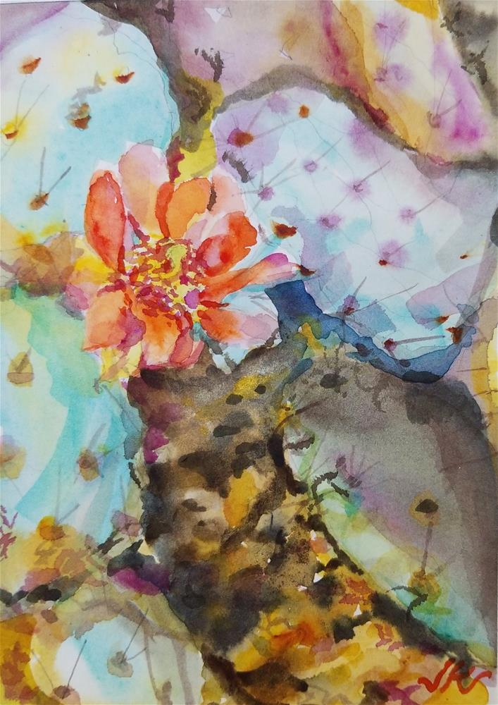 """Opuntia"" original fine art by Jean Krueger"