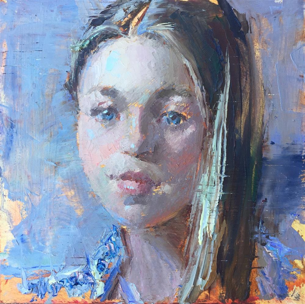 """The Paisley Shirt"" original fine art by Johanna Spinks"