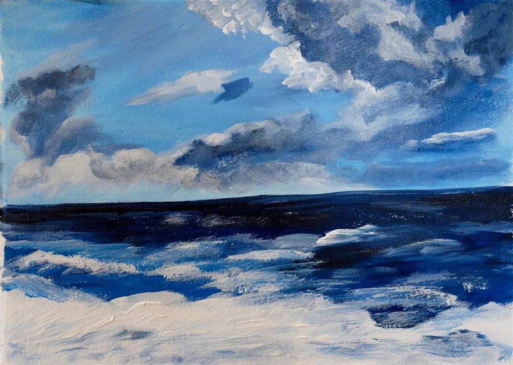 """30 in 30 #3 - Blue Days"" original fine art by Kimberly Balentine"