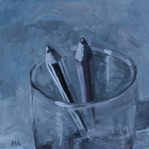 """Pencils"" original fine art by Aniko Makay"