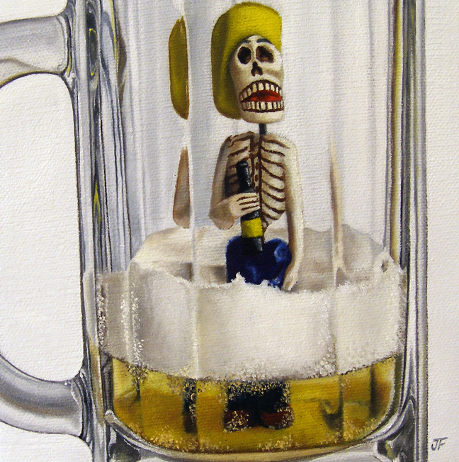 """""""Day of the (Dead) Drunk"""" original fine art by Jelaine Faunce"""