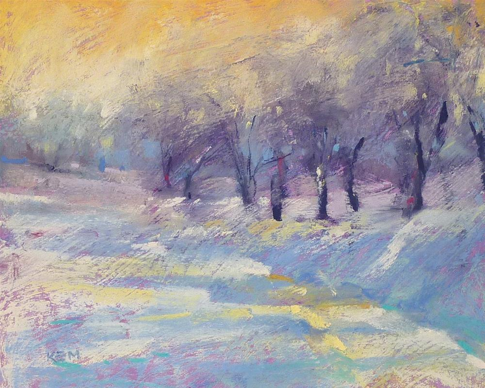 """Winter Landscape 'On a Winter Path'"" original fine art by Karen Margulis"
