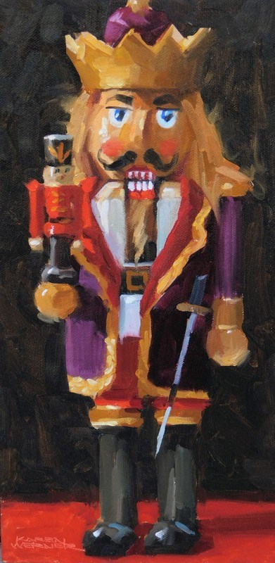 """King Cracker"" original fine art by Karen Werner"