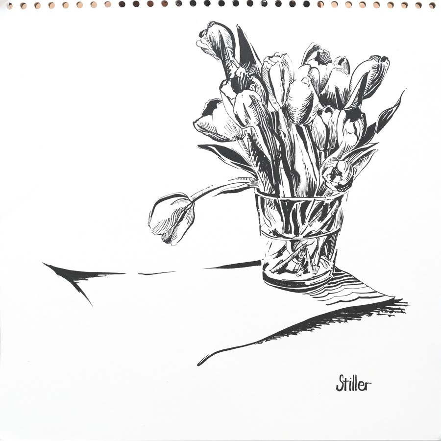 """3154 HomeOfficeTulips"" original fine art by Dietmar Stiller"