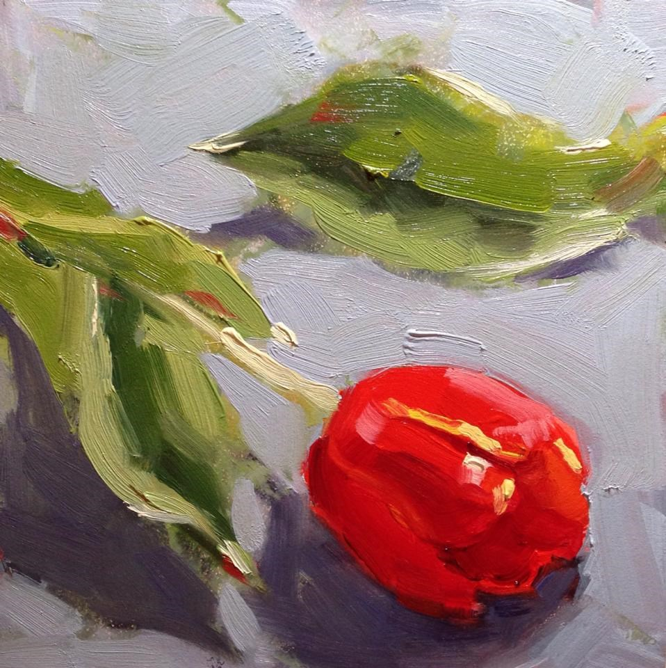 """Tulip Study"" original fine art by Katia Kyte"