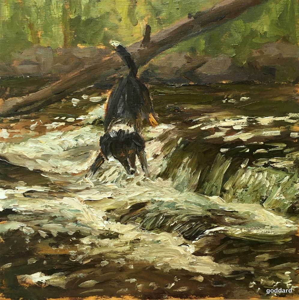 """Running of the Alewives"" original fine art by Shari Goddard Shambaugh"