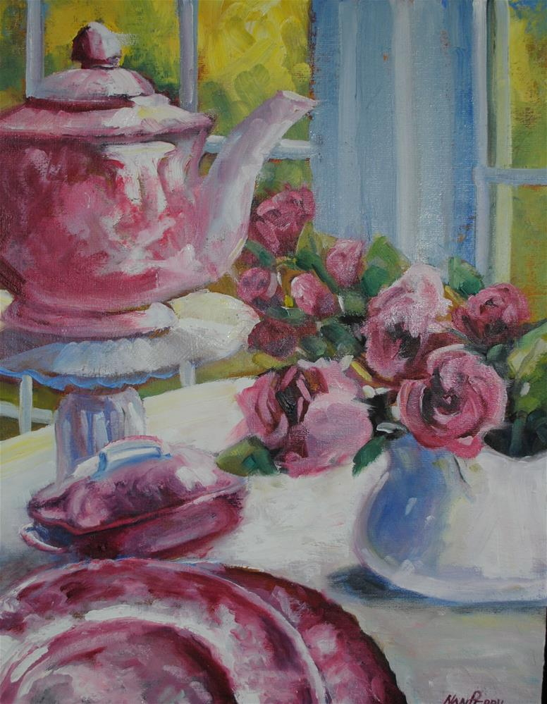 """All Things Pretty and Pink 14x18"" original fine art by Nan Perry"