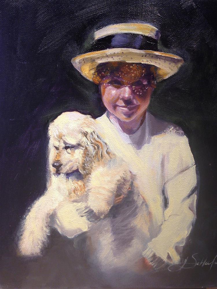"""Harley and Friend"" original fine art by Janet Setterland"