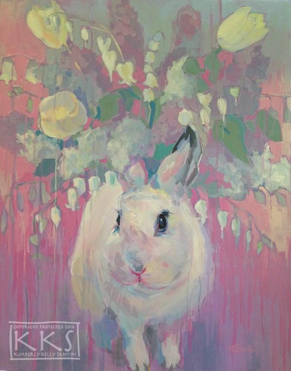 """White Lilacs"" original fine art by Kimberly Santini"