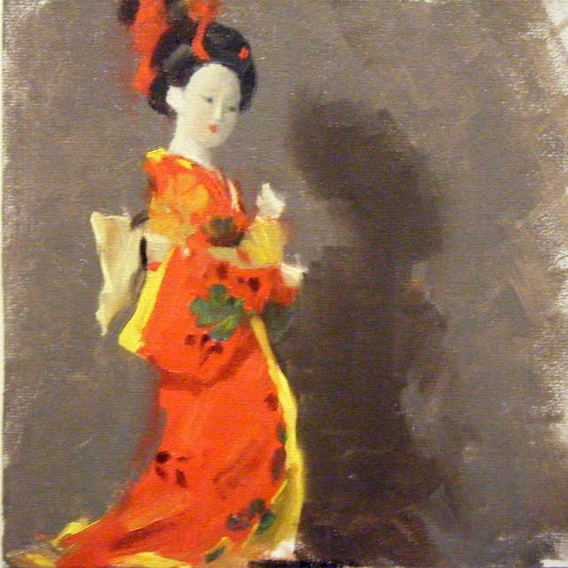 """FIGURINE STUDY"" original fine art by Helen Cooper"