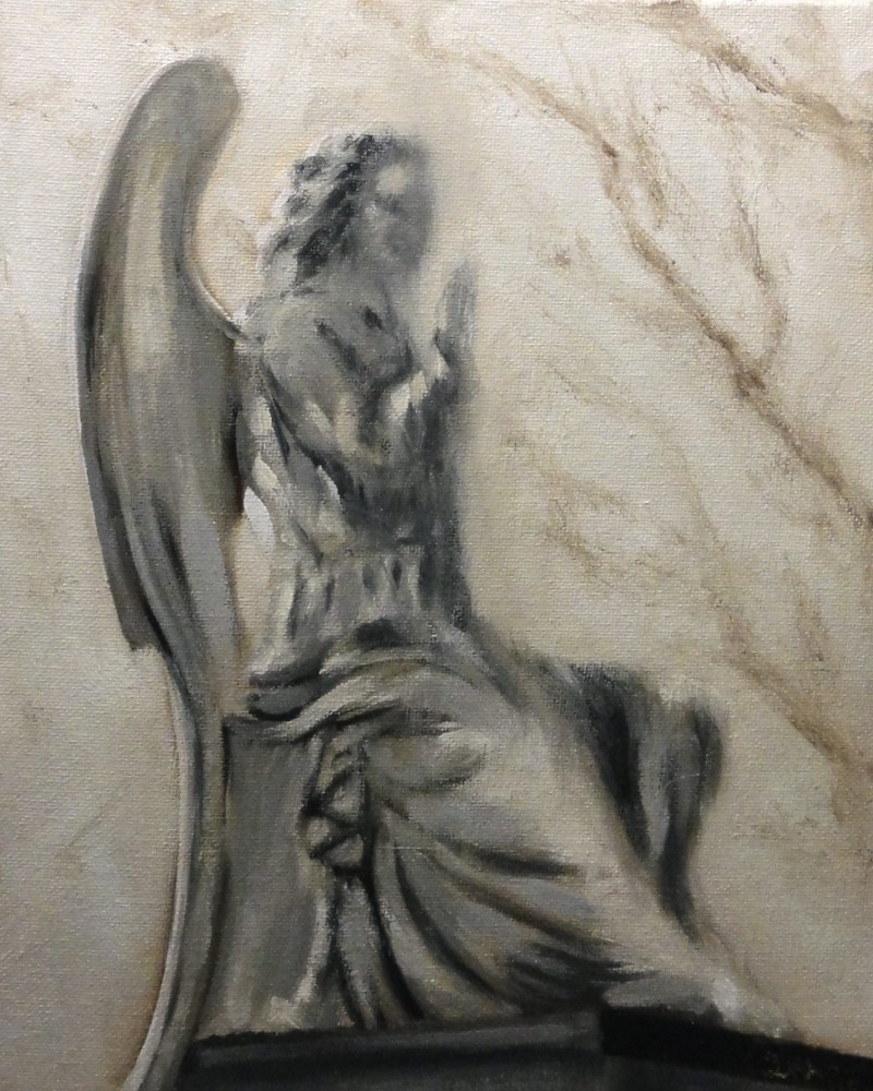"""Angel At The Graveyard, New Orleans"" original fine art by Dalan Wells"