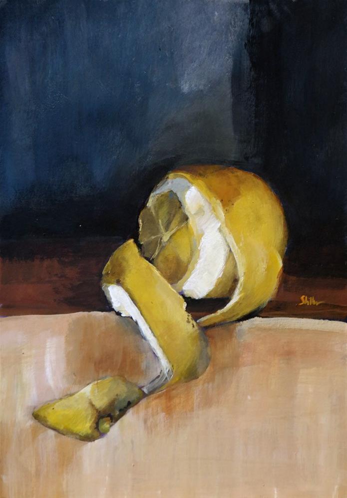 """1696 The Carving of the Lemon"" original fine art by Dietmar Stiller"