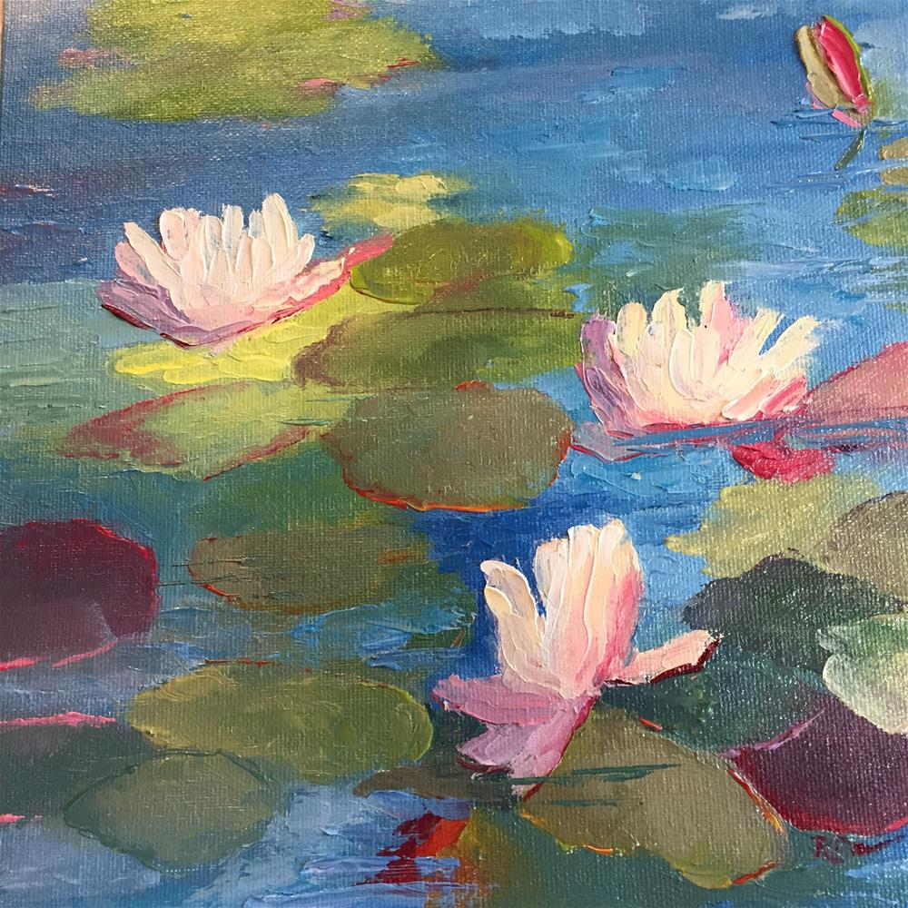 """The Water Lilies"" original fine art by Rose Brenner"