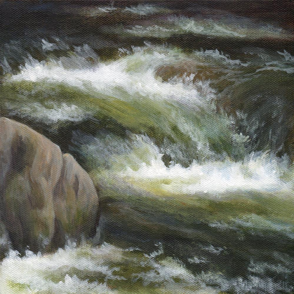 """Falling Down"" original fine art by Debbie Shirley"