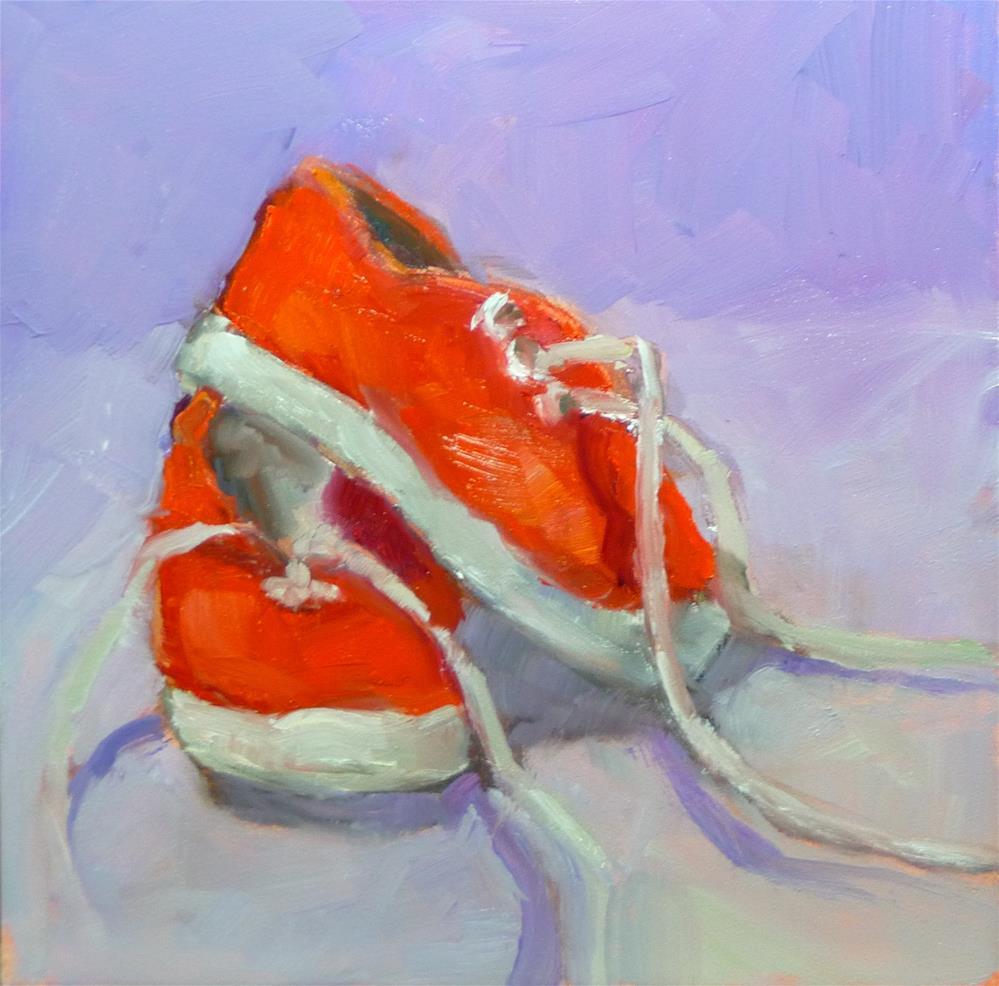 """Red Sneakers"" original fine art by Carol Josefiak"
