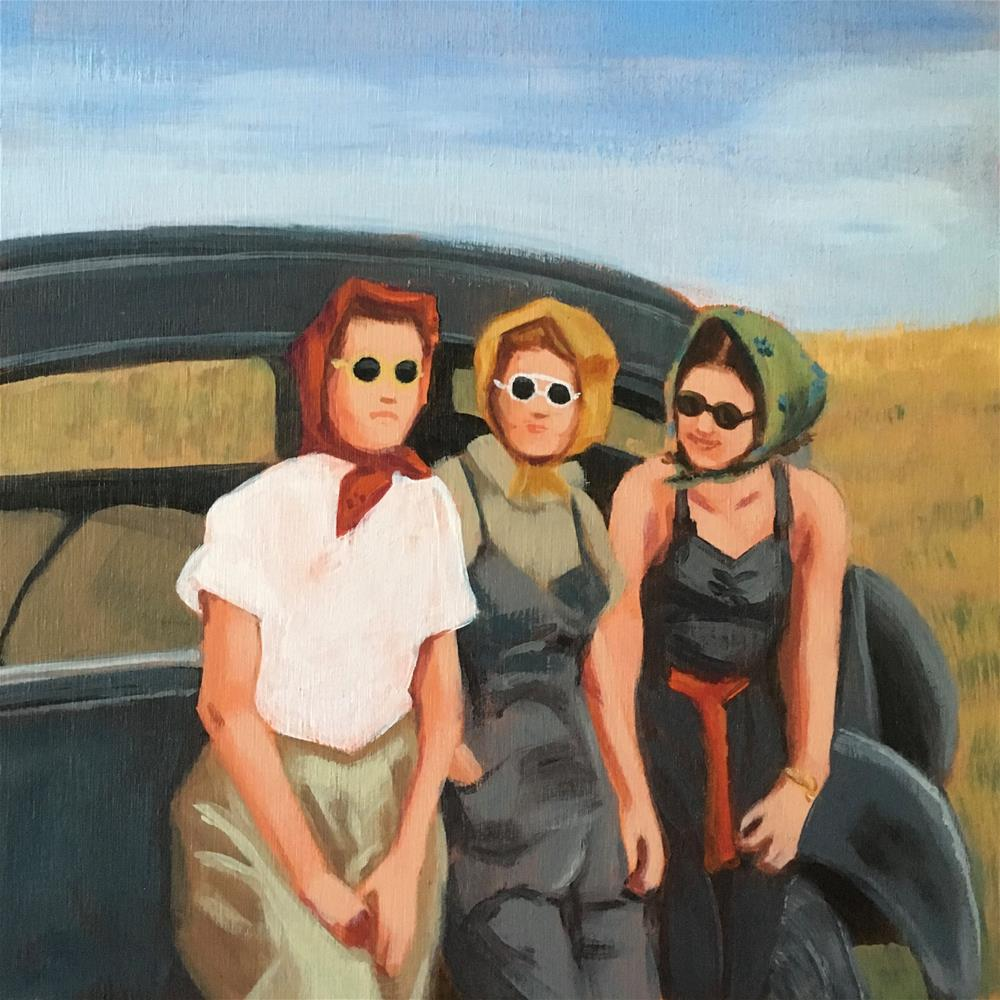 """Road Break"" original fine art by Bev Thibault"