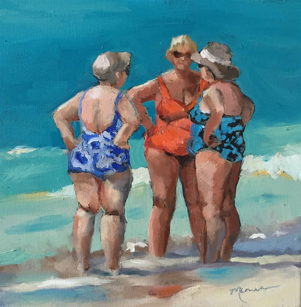 """Beauty and the Beach"" original fine art by Marcia Hodges"