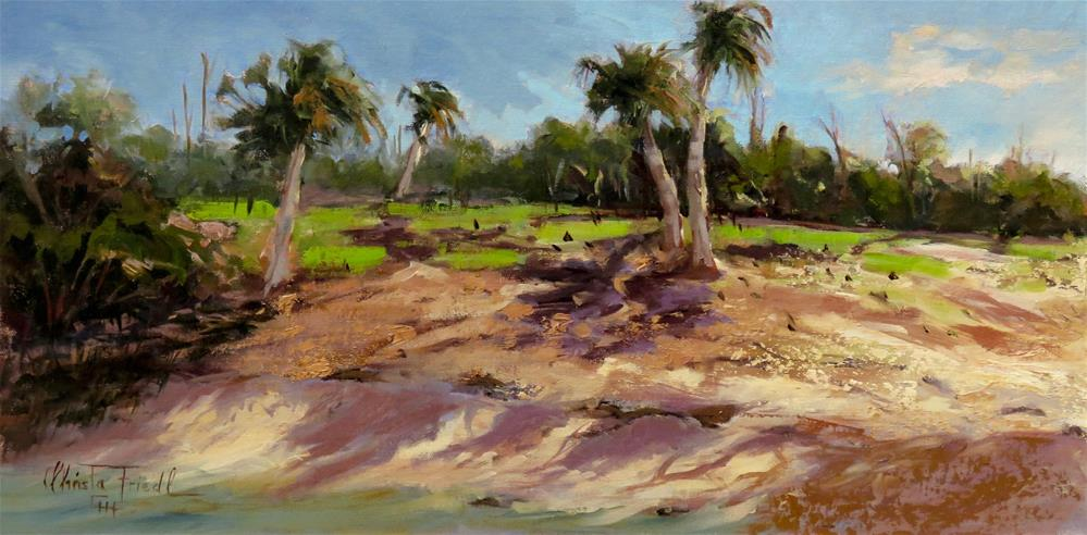 """Low Tide at the Beach"" original fine art by Christa Friedl"