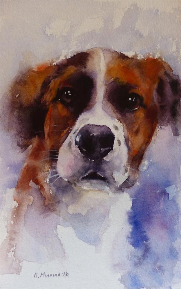 """adopt206 - Chuck"" original fine art by Katya Minkina"