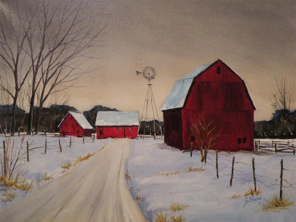 """""""Margaret Bings Farm"""" original fine art by Steve Gibson"""