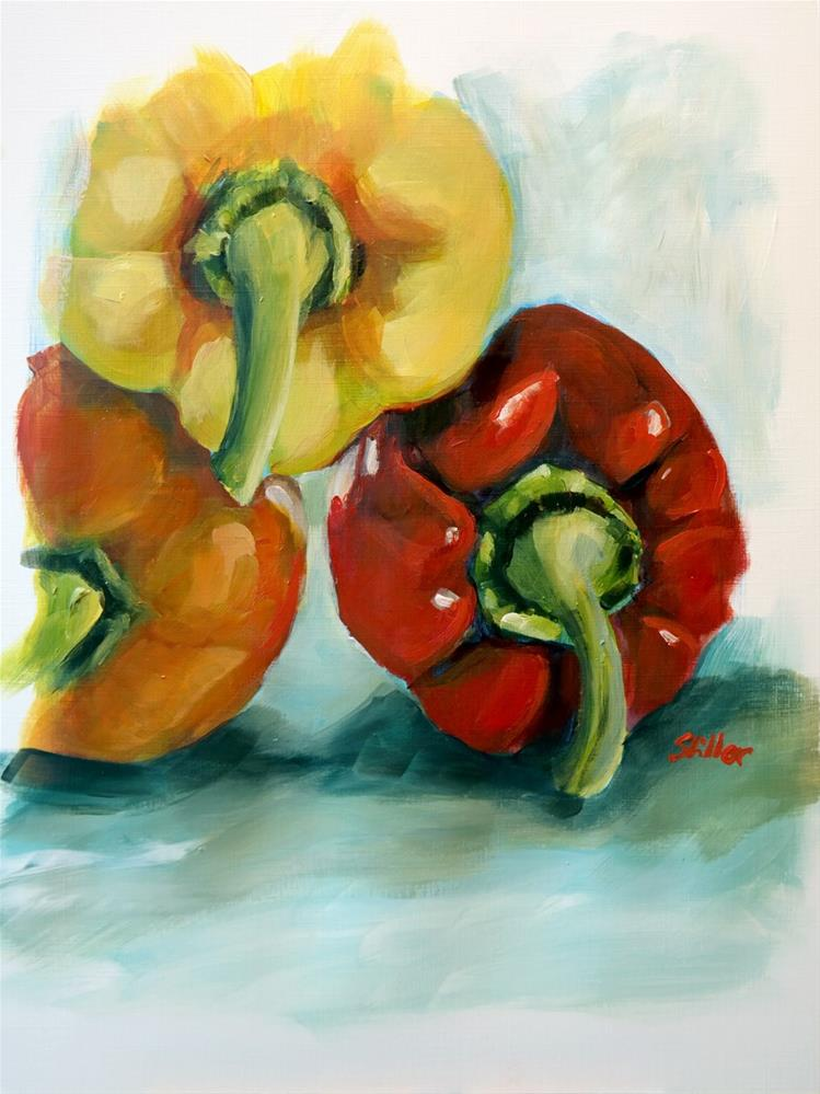 """1707 Colorful Peppers"" original fine art by Dietmar Stiller"