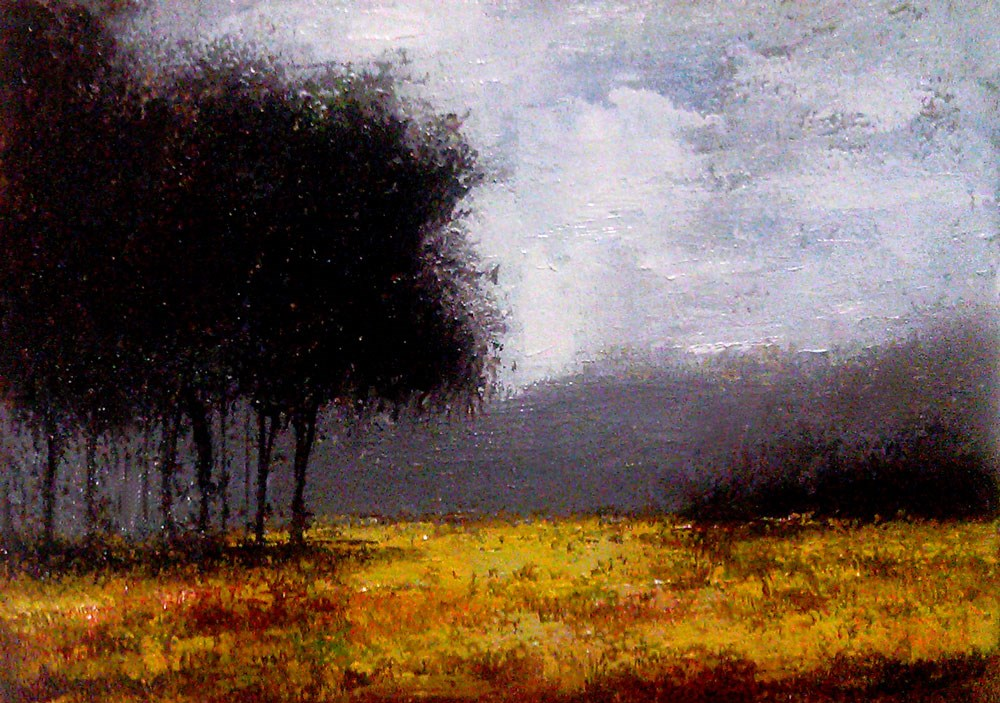 """""""Passing the Forest"""" original fine art by Bob Kimball"""