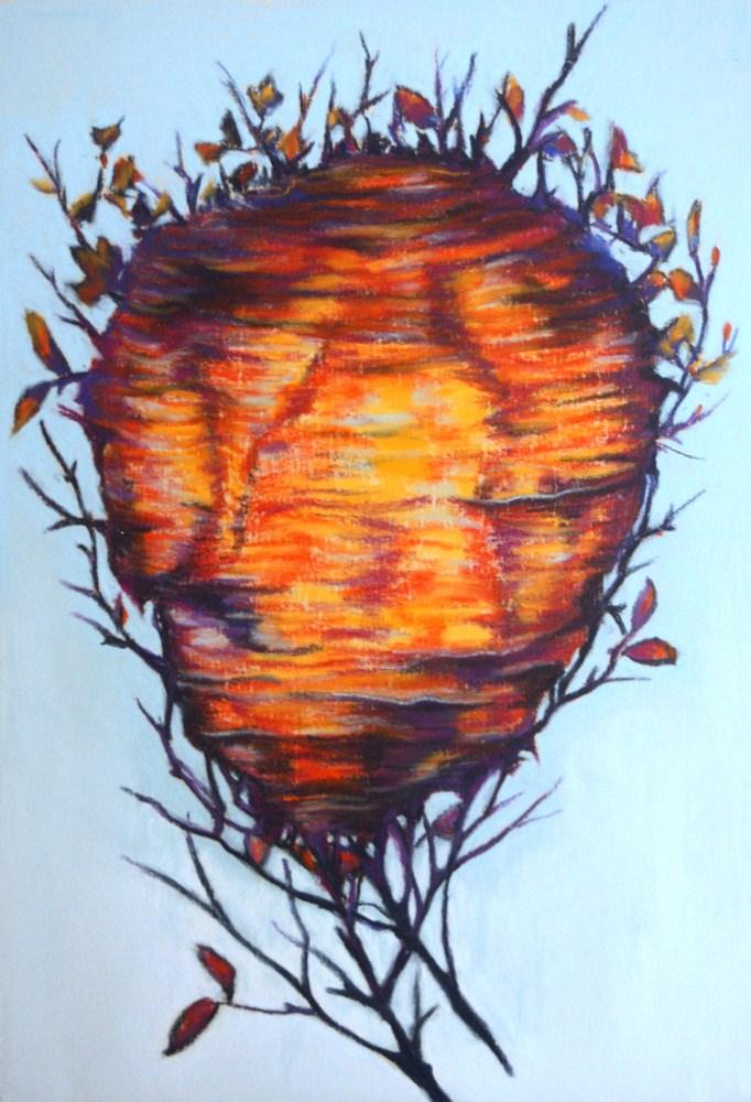 """""""The Wasp Nest"""" original fine art by Jill Bates"""