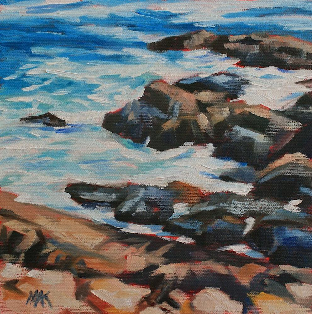 """Rocky Edge"" original fine art by Mary Anne Cary"