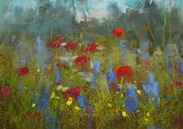"""How I discovered the Missing Color"" original fine art by Karen Margulis"