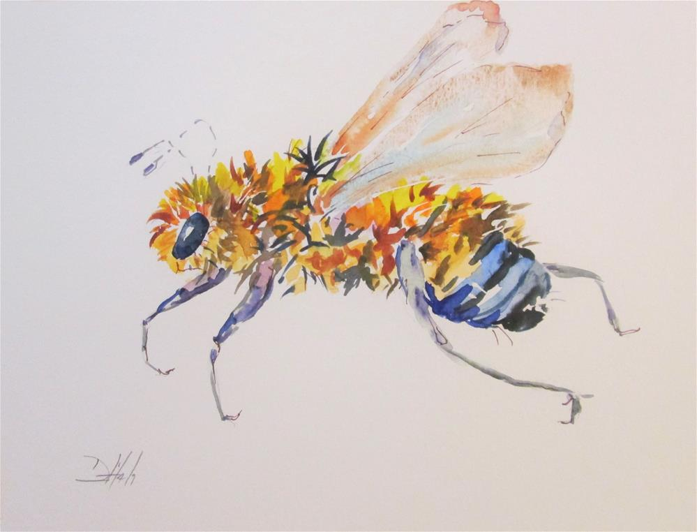 """Bee"" original fine art by Delilah Smith"