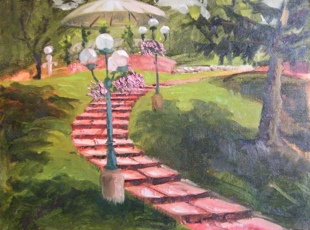 """""""Garden Path"""" original fine art by Donna Whatcott Parsons"""