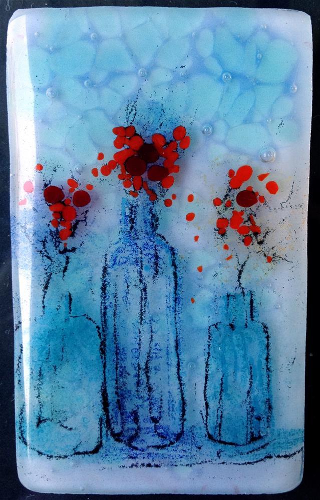 """""""Red Trio"""" original fine art by Kristen Dukat"""