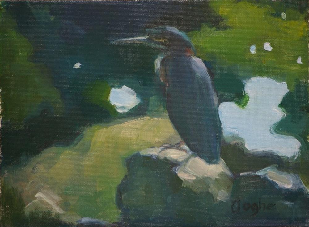 """""""Heron"""" original fine art by Angela Ooghe"""