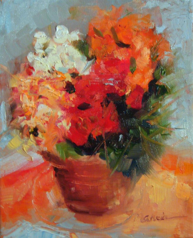 """Flowers for You"" original fine art by Marcia Hodges"