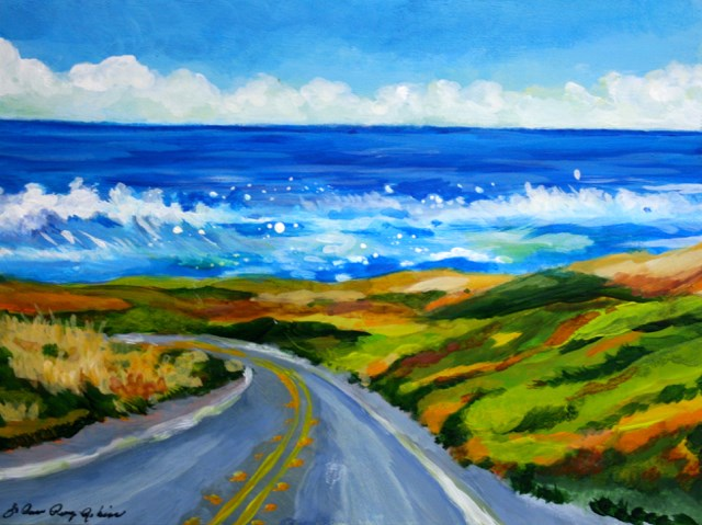 """Ocean View"" original fine art by JoAnne Perez Robinson"